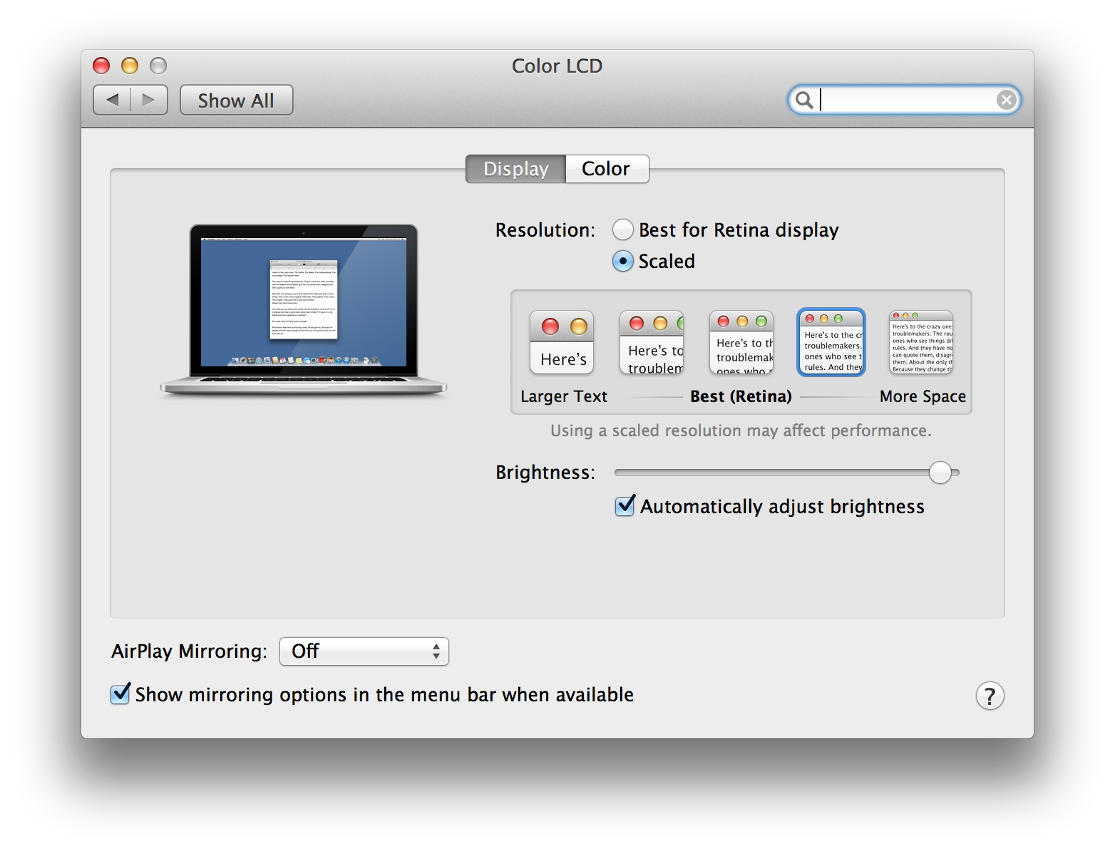 Retina display support for mac os ios and x11 qt blog scaling the user interface resolution on mac os baditri Images