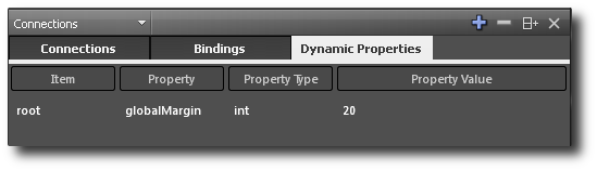 The dynamic properties tab.