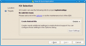 Screenshot of new kit selection feature in Qt Creator 3.0
