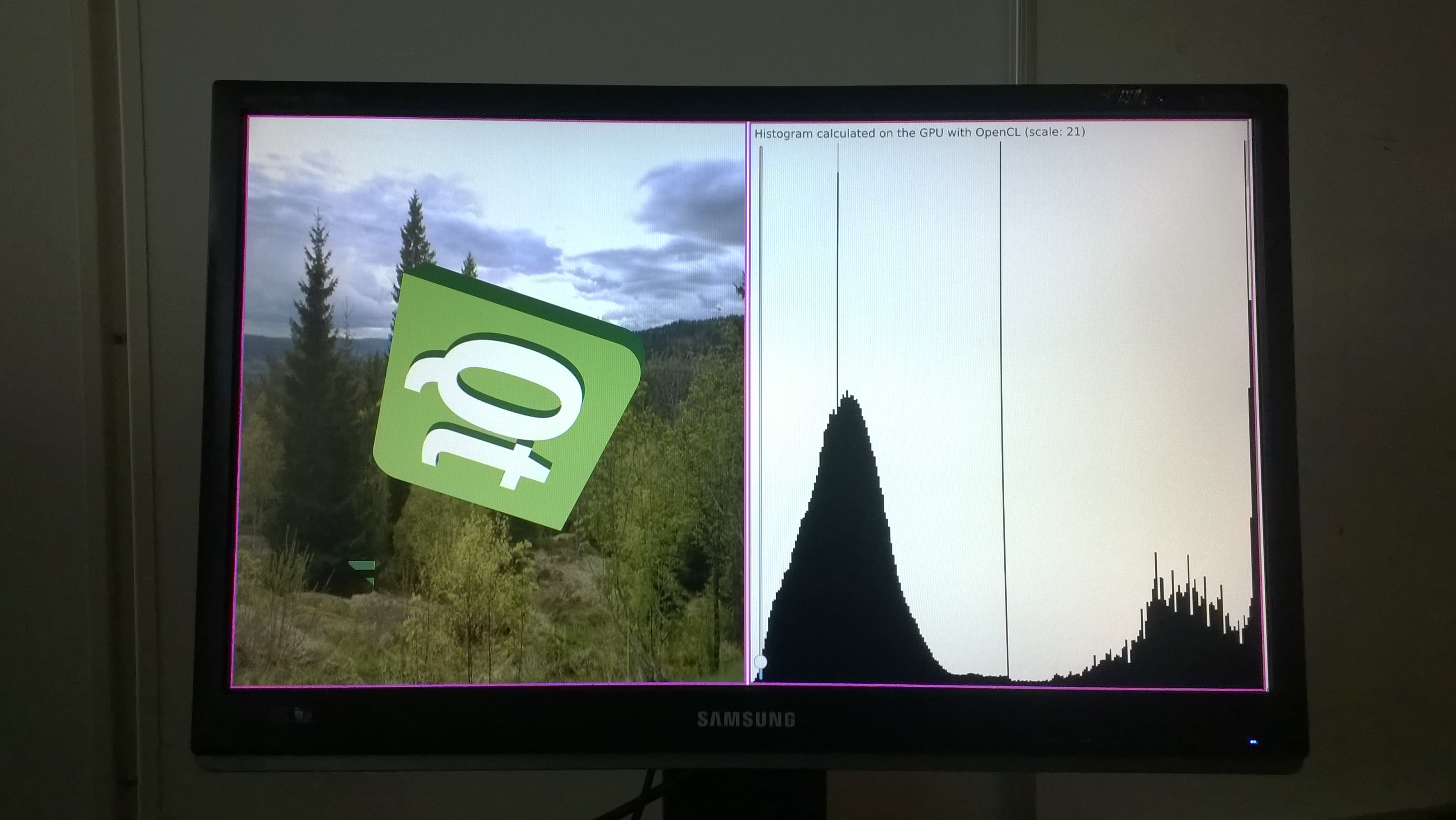 CL-GL histogram