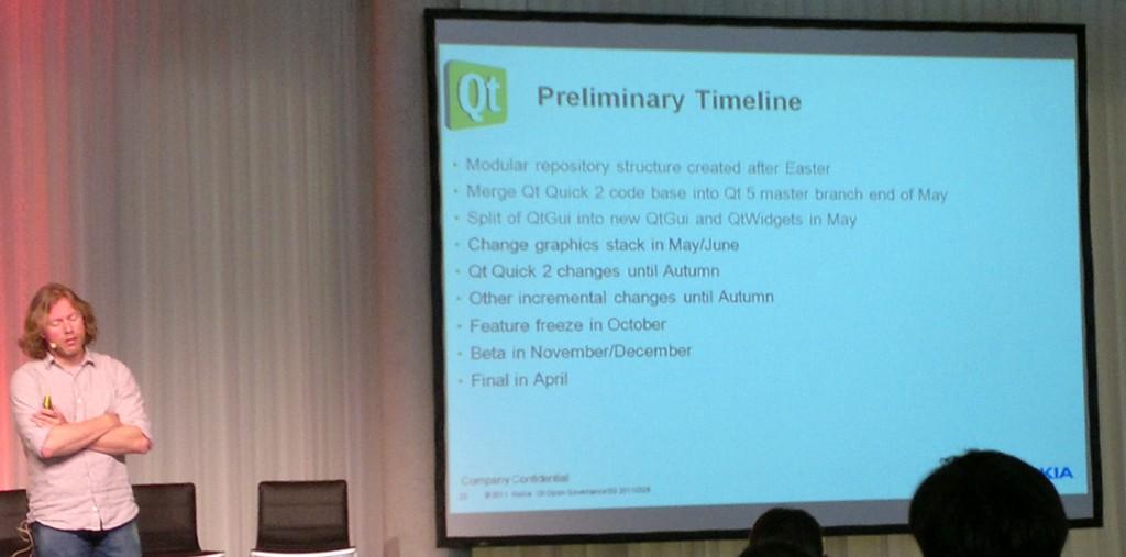 キーノート: Qt5の暫定スケジュール
